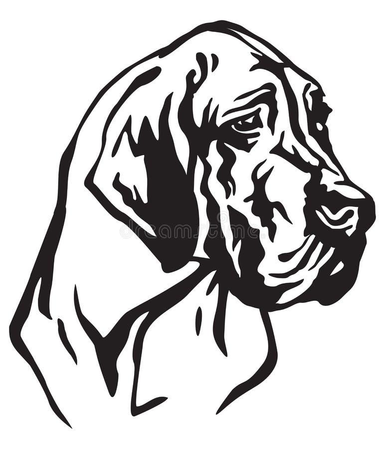 Dekoracyjny portret Psia Great Dane wektoru ilustracja ilustracja wektor