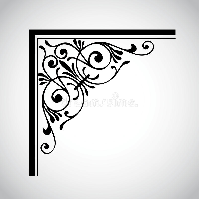 dekoracyjny projekta elementu rocznik ilustracji