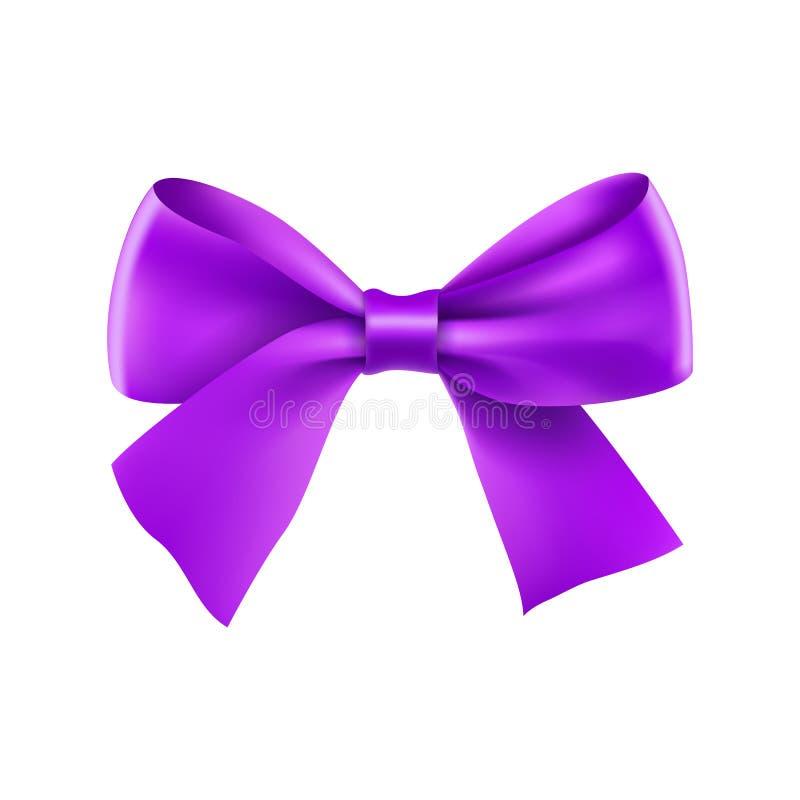 Dekoracyjny purpurowy tasiemkowy ??k ilustracji