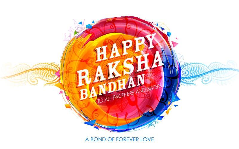 Dekoracyjny Rakhi dla Raksha Bandhan tła ilustracja wektor