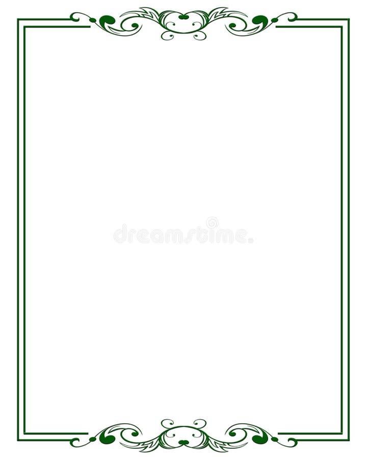 dekoracyjny ramowy ornamentacyjny prosty royalty ilustracja