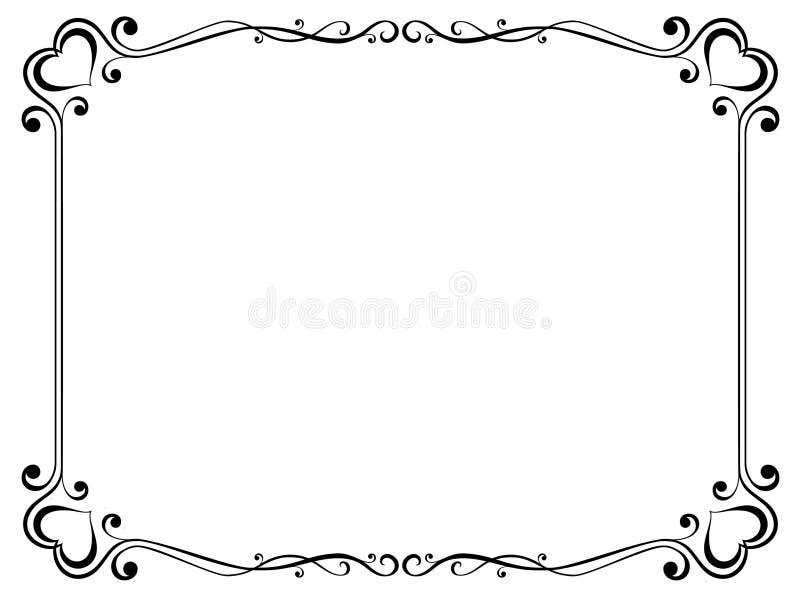 dekoracyjny ramowy serce royalty ilustracja