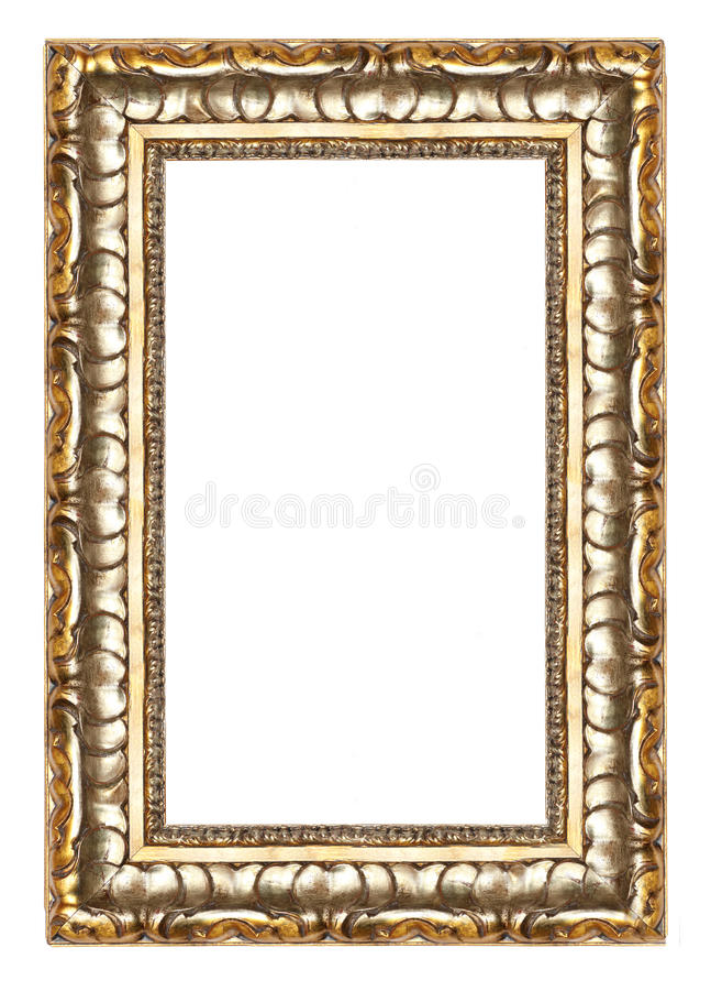 dekoracyjny ramowy złota wzoru obrazek obrazy royalty free