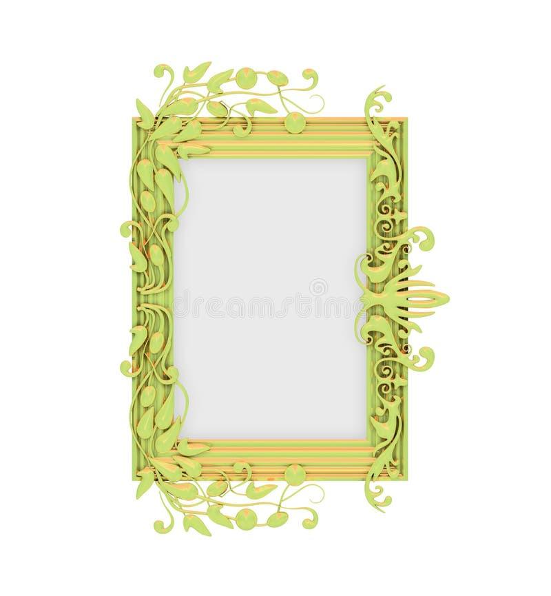 dekoracyjny ramowy złoty odosobniony royalty ilustracja
