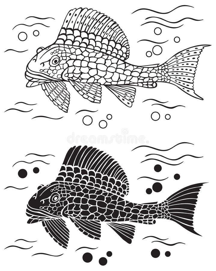 Dekoracyjny rybi sum ilustracji