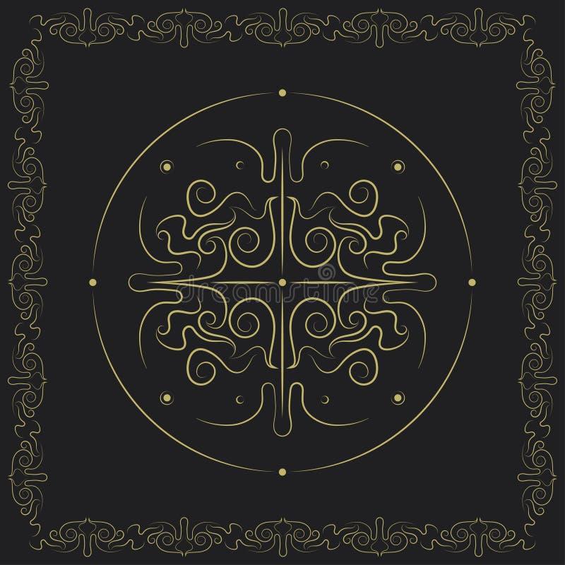 Dekoracyjny swirly symmetric projekt ilustracji
