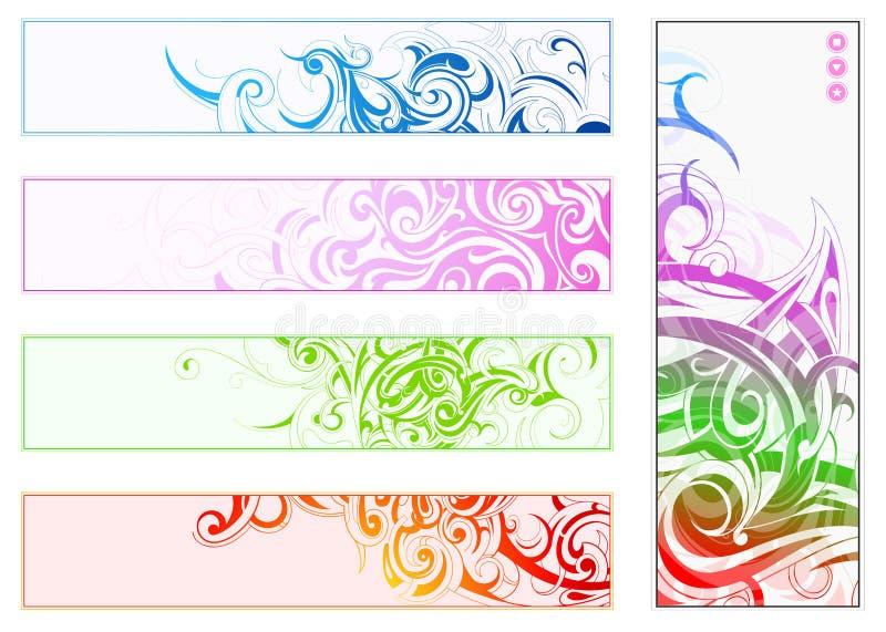 dekoracyjny sztandaru set royalty ilustracja
