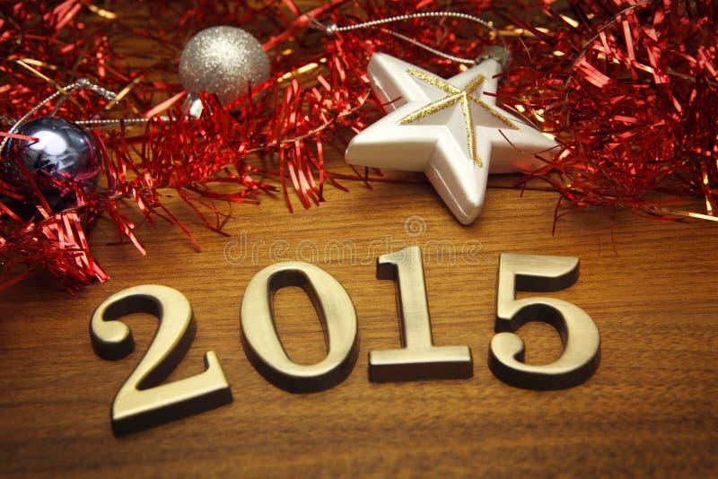 Dekoration 2015 des neuen Jahres stockbilder