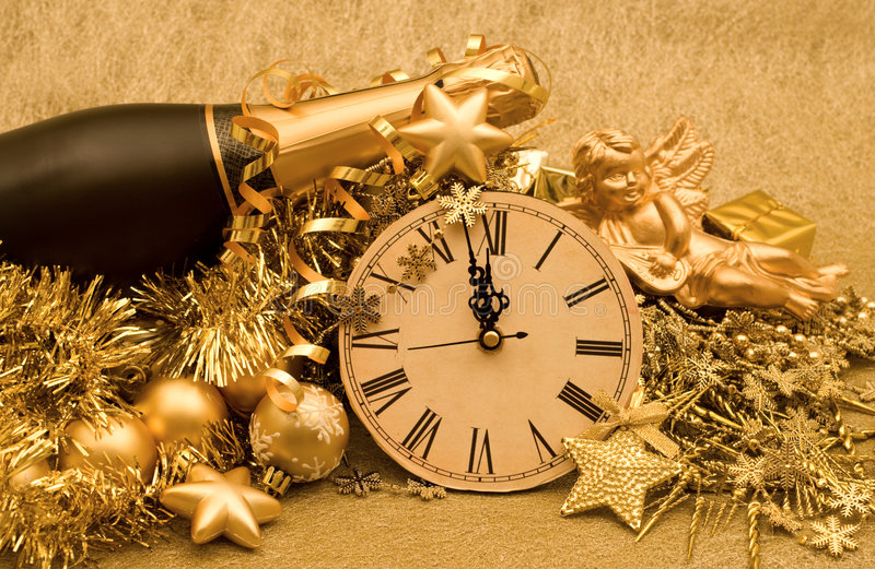 Dekoration des neuen Jahres stockbilder