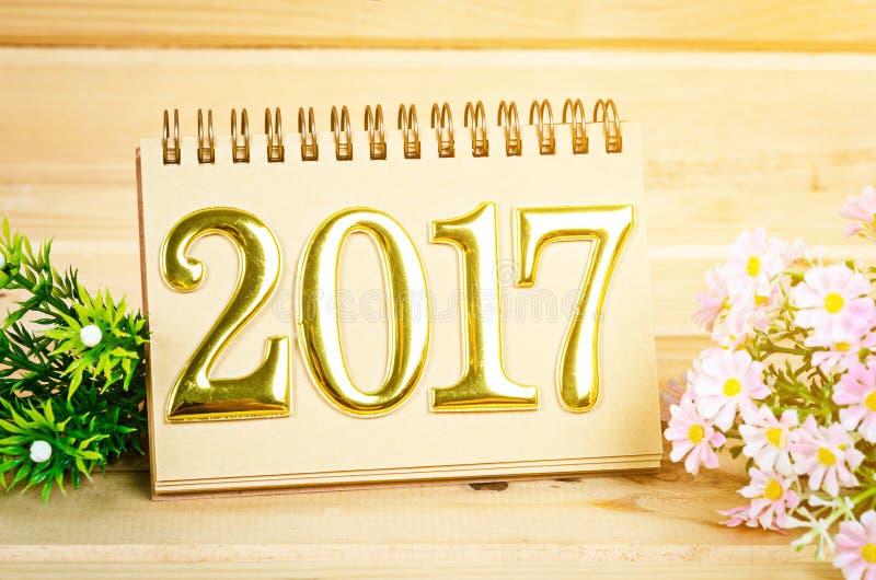 Dekoration 2017 des neuen Jahres lizenzfreies stockbild