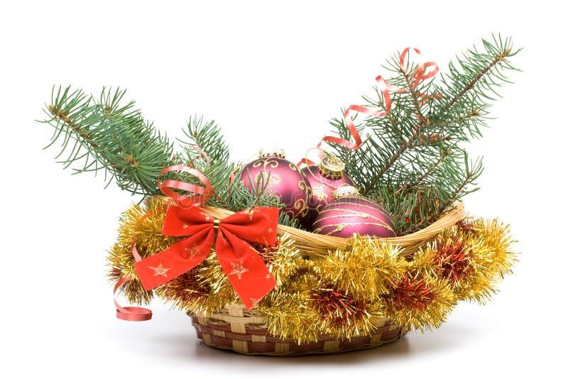 DEKORATION des neuen Jahres und Weihnachts lizenzfreie stockbilder
