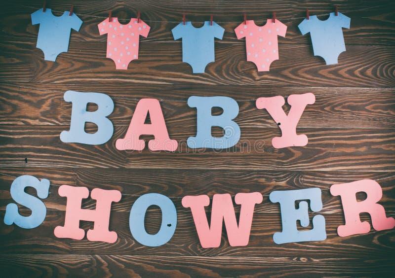 Dekoration für Babyparty lizenzfreie stockbilder