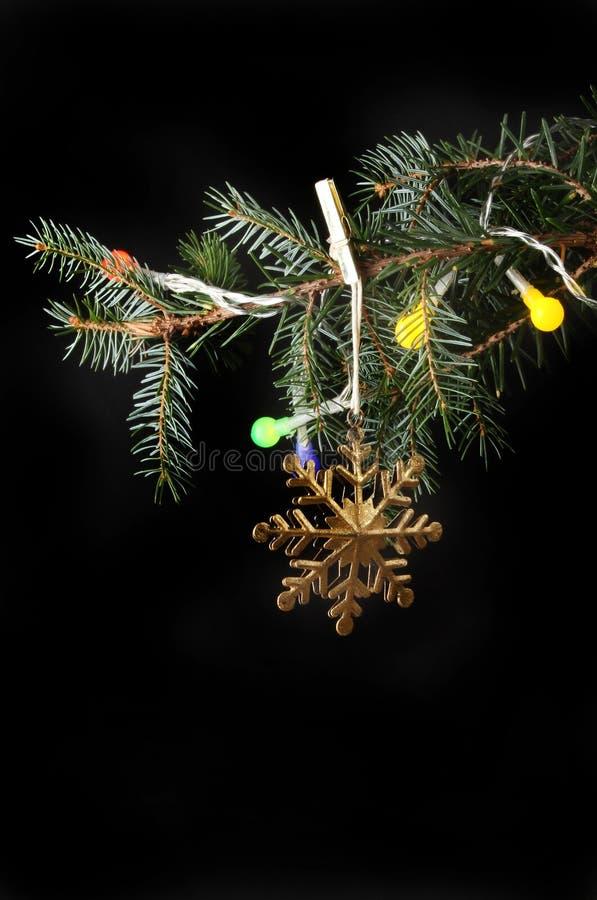Dekoration im Weihnachtsbaum stockbilder