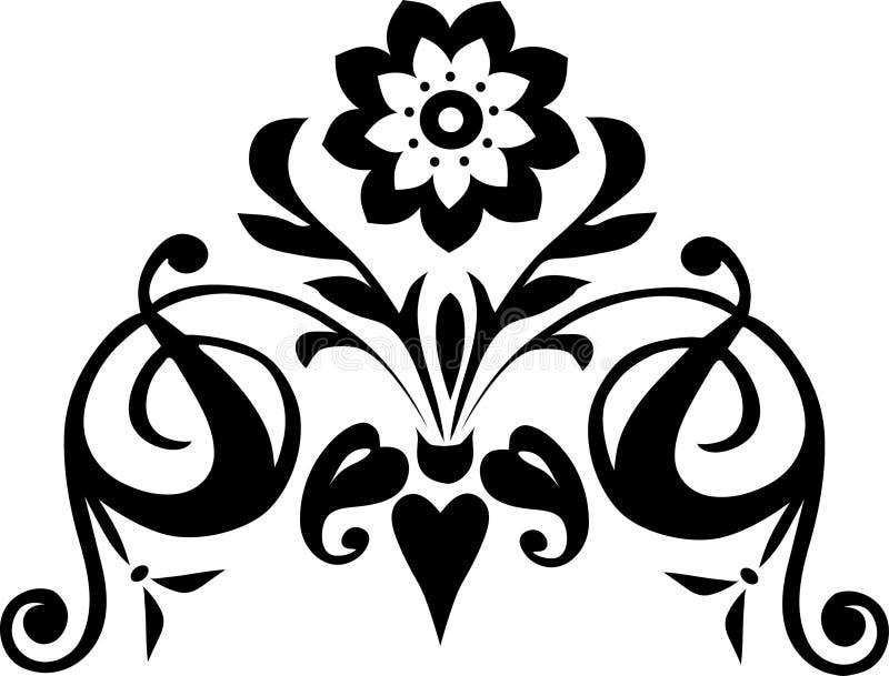 Dekoration mit schwarzer Blume vektor abbildung