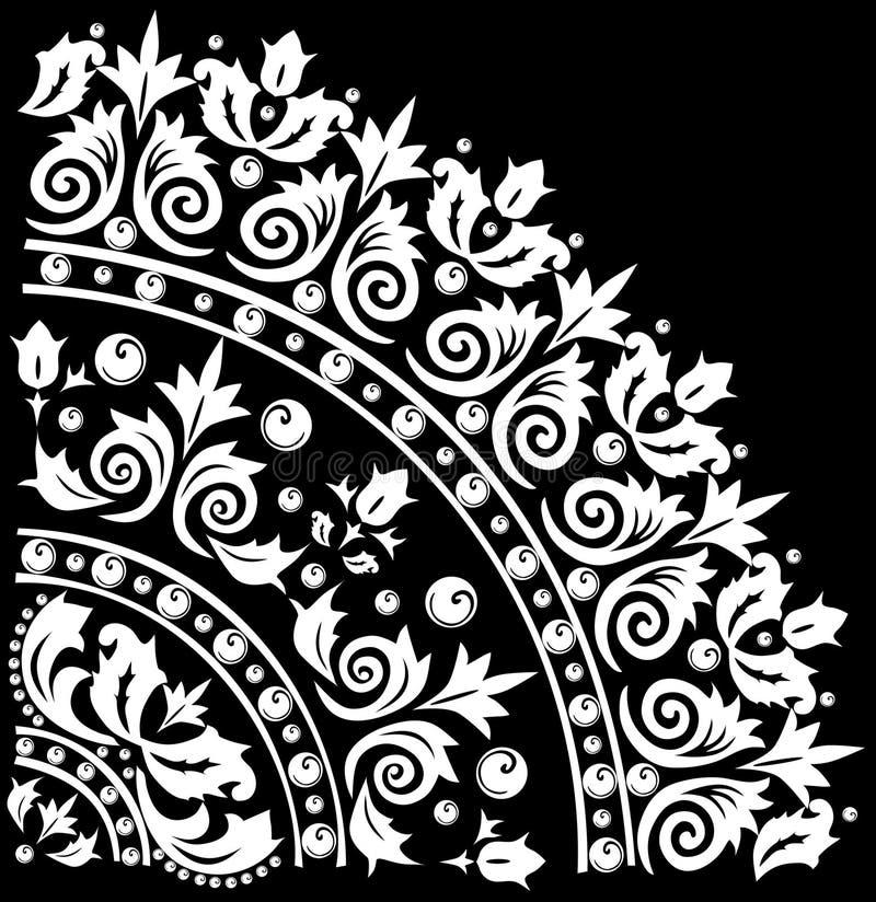 Dekoration mit weißem Quadranten lizenzfreie abbildung