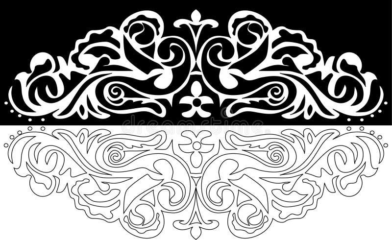 Dekoration mit zwei Farben vektor abbildung