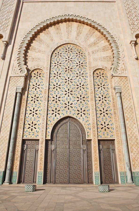 Dekoration moschee der hassan ii stockfoto bild von afrika t ren 7712636 - Dekoration afrika ...