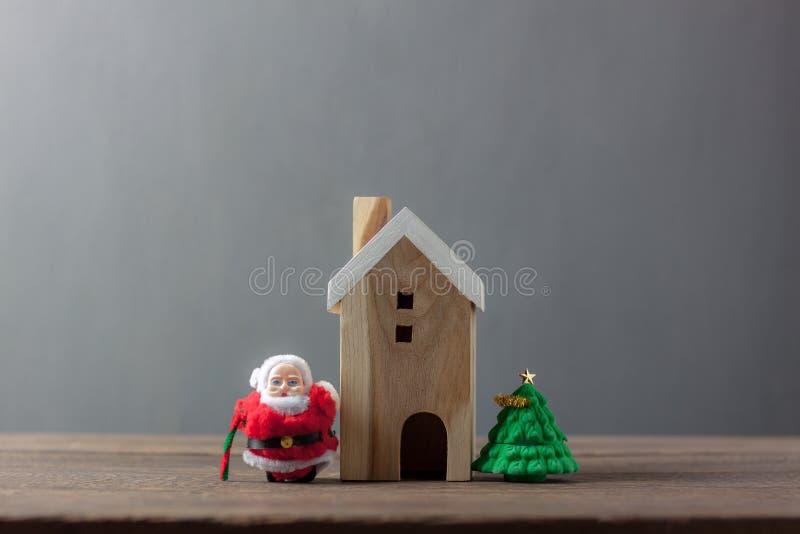 Dekoration u. Konzept der Verzierungs-frohen Weihnachten u. des guten Rutsch ins Neue Jahr lizenzfreies stockfoto