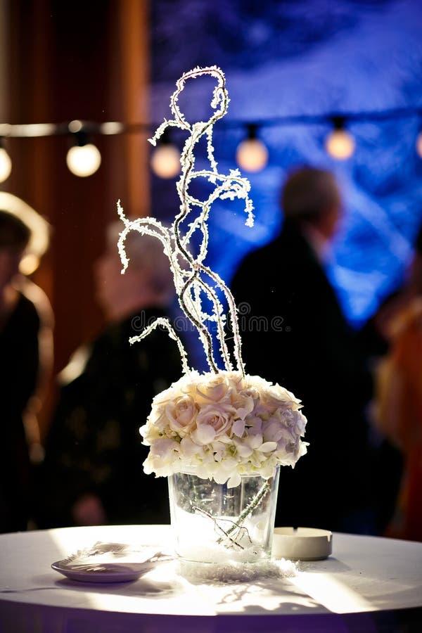 Dekoration von Hochzeitsblumen stockbilder