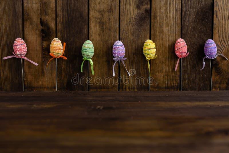 Dekorationen für Ostern-Feiertag lizenzfreie stockfotos