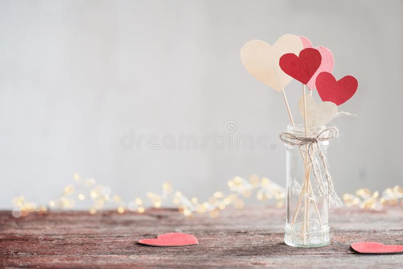 Dekorationen für Valentinsgruß ` s Tag lizenzfreies stockbild