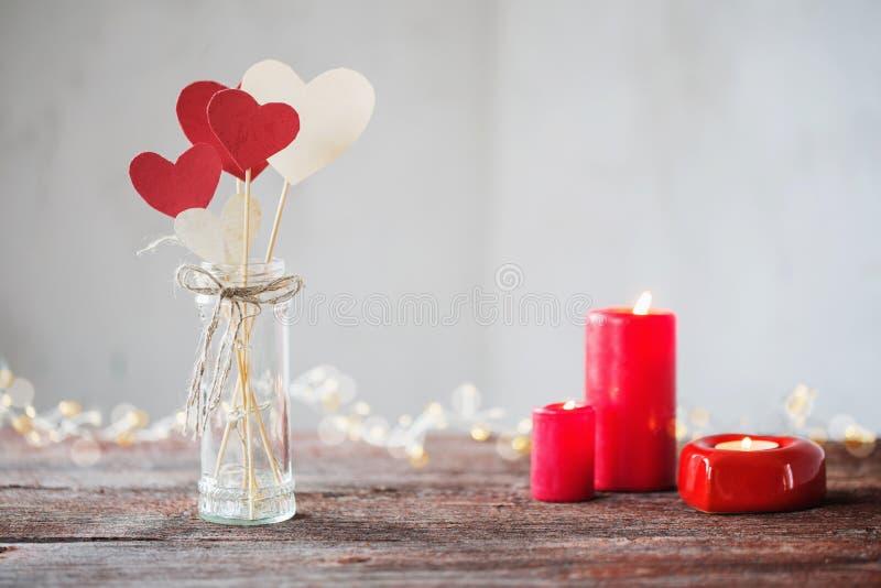 Dekorationen für Valentinsgruß ` s Tag stockbild