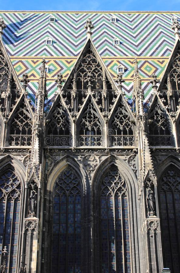 Dekorationen von St. Stephen Cathedral stockbild