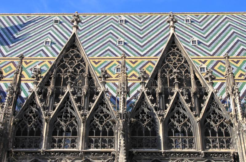 Dekorationen von St. Stephen Cathedral lizenzfreie stockfotos