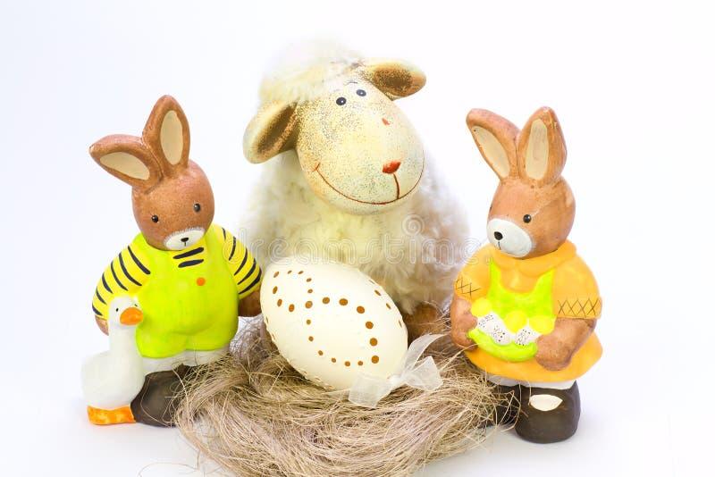 Dekorations de Pâques images libres de droits