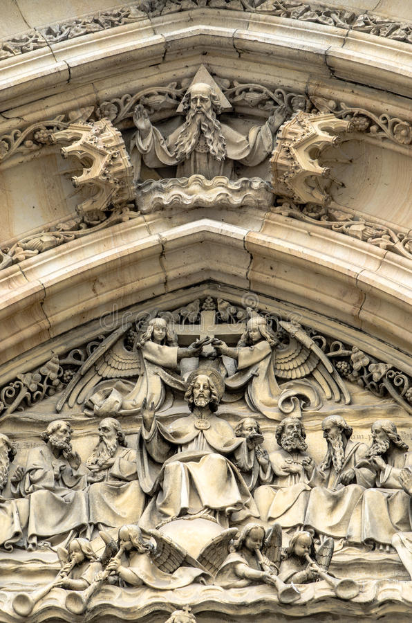 Dekorationsdetail - Churchy Peter und Paul stockfotos