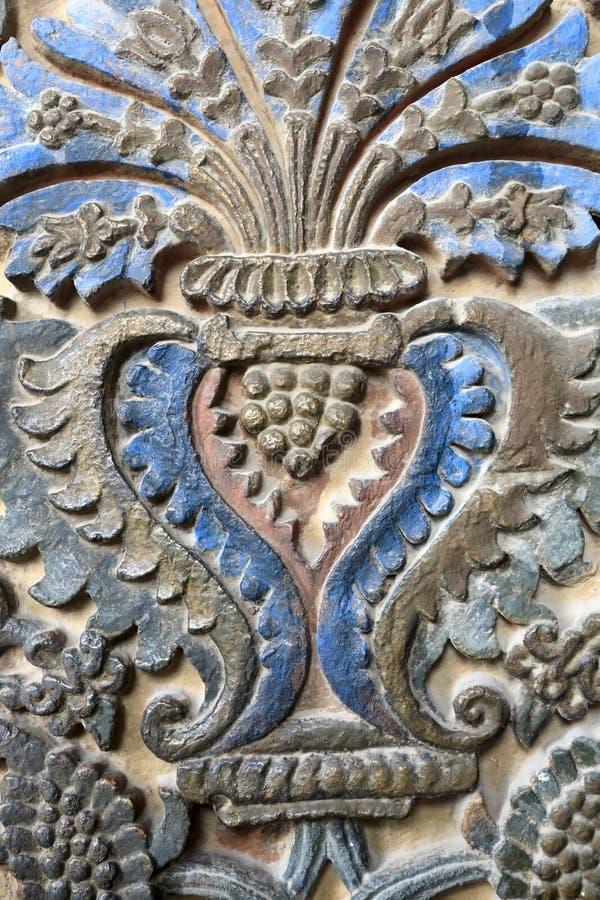 Dekorationshaupteingang von Etchmiadzin-Kathedrale stockfotos