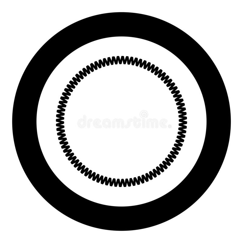 Dekorationskreis Dekorative Linie Kunstrahmensymbol in kreisrunden, schwarzen Farbvektorbildern flaches Stilbild vektor abbildung