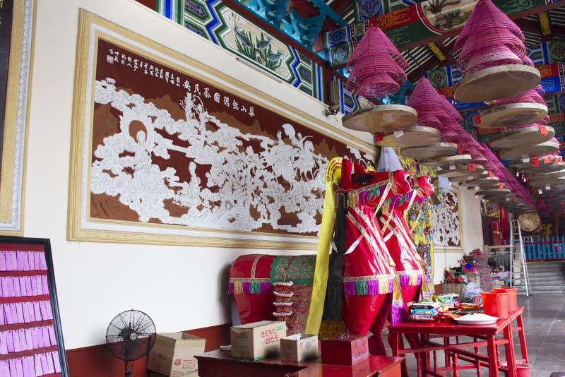 Dekorationsmöbel und Opferangebote für chinesisches Volk beten Gott und Denkmal zum Vorfahr in Tiantan-Tempel bei China lizenzfreies stockbild