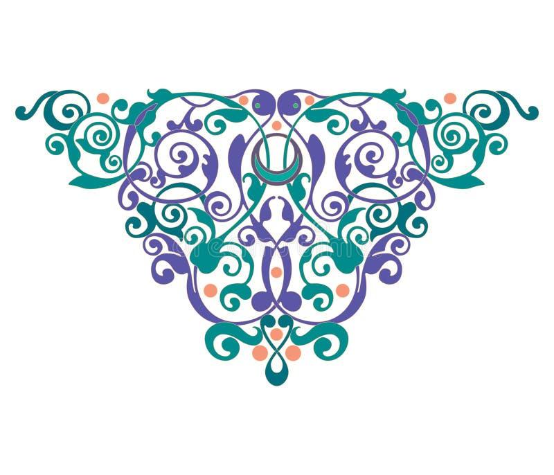 Dekorationszusammenfassungs-Verzierungsillustration der heartdecoration Zusammenfassungs-Verzierungsillustration der Mandala vektor abbildung