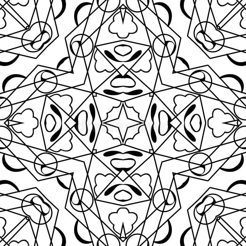 Dekorativ abstrakt modell med linjer royaltyfri illustrationer