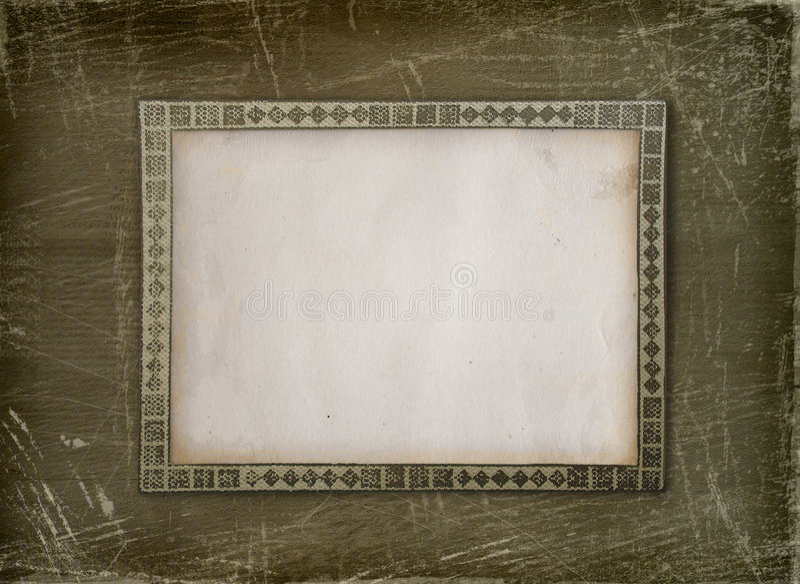 dekorativ albumramgrunge stock illustrationer