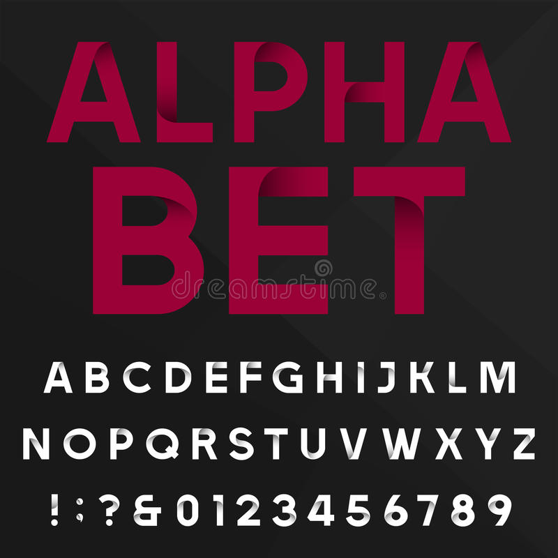 Dekorativ alfabetvektorstilsort vektor illustrationer