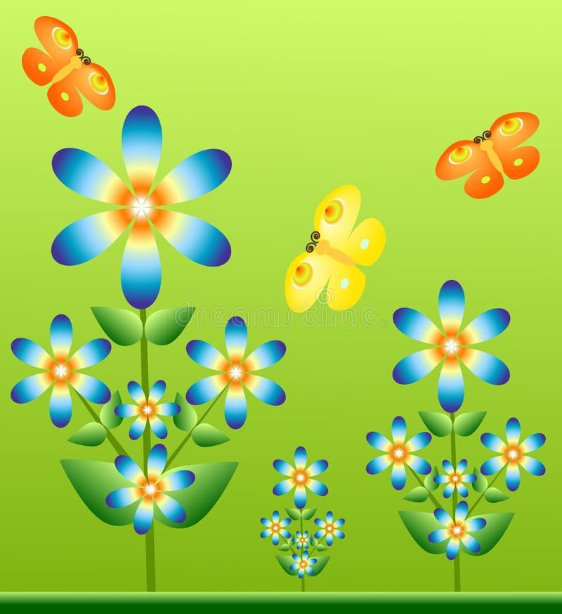 dekorativ bakgrund royaltyfri illustrationer