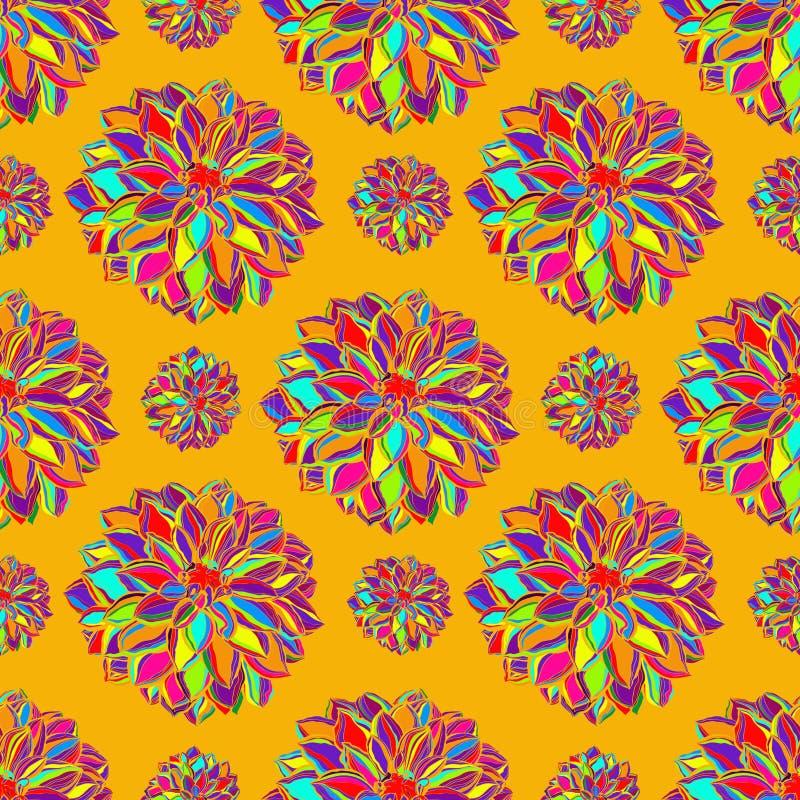 Dekorativ bakgrund för blomma stock illustrationer
