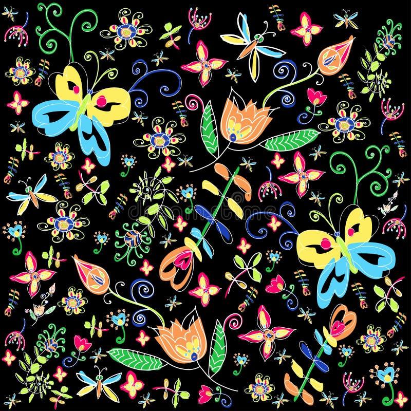 Dekorativ bakgrund för blomma royaltyfri illustrationer