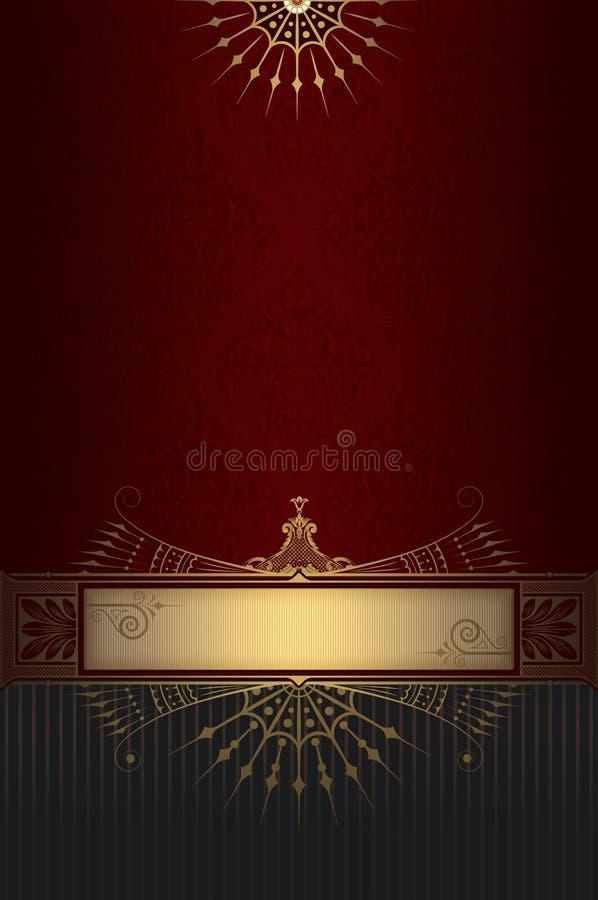 Dekorativ bakgrund med den eleganta gränsen vektor illustrationer