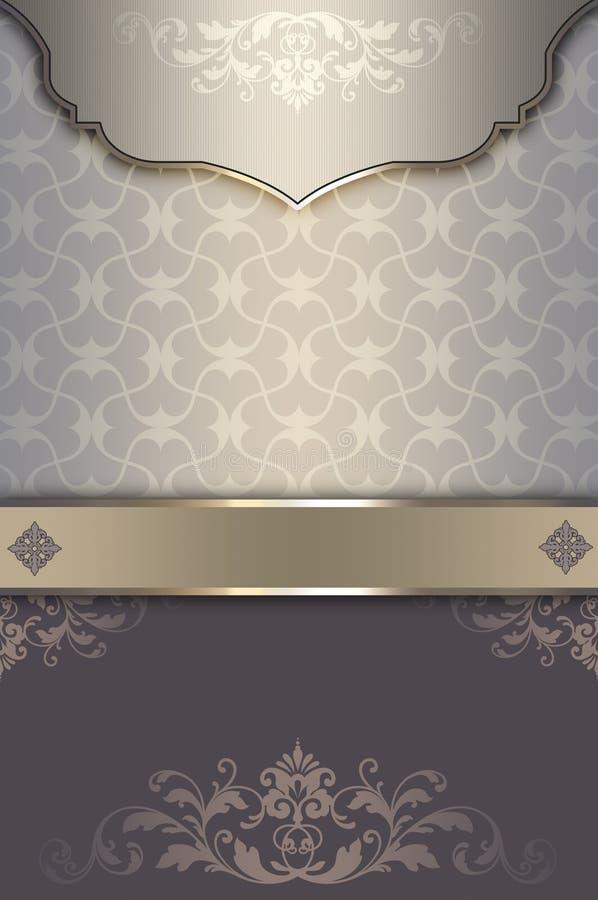 Dekorativ bakgrund med den eleganta modellen vektor illustrationer