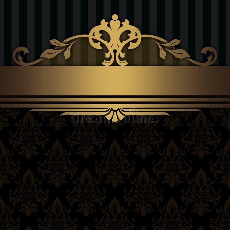 Dekorativ bakgrund med den guld- gränsen royaltyfri illustrationer