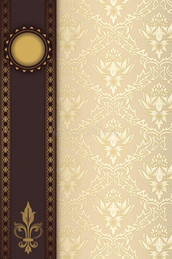 Dekorativ bakgrund med prydnaden och gränsen stock illustrationer