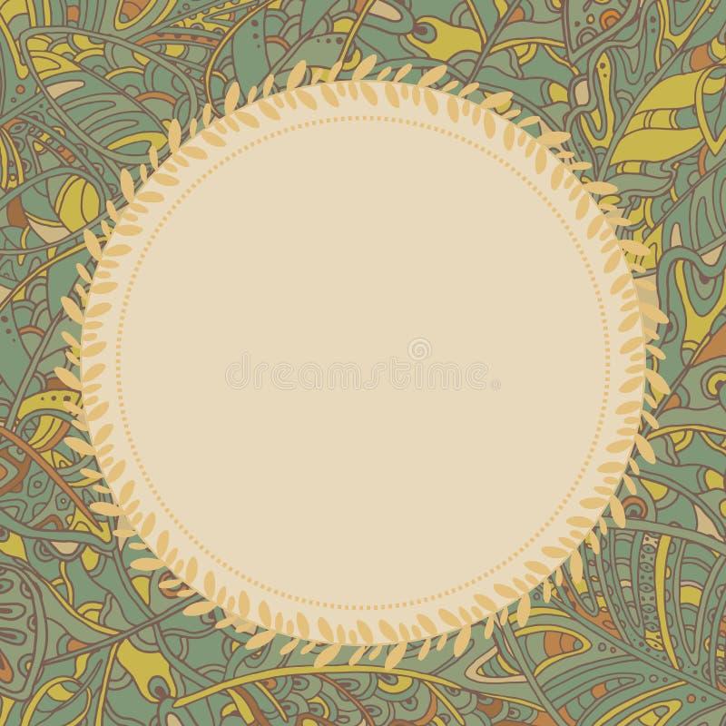 Dekorativ bakgrund med sidor vektor illustrationer