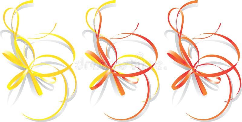 dekorativ bandvektor vektor illustrationer