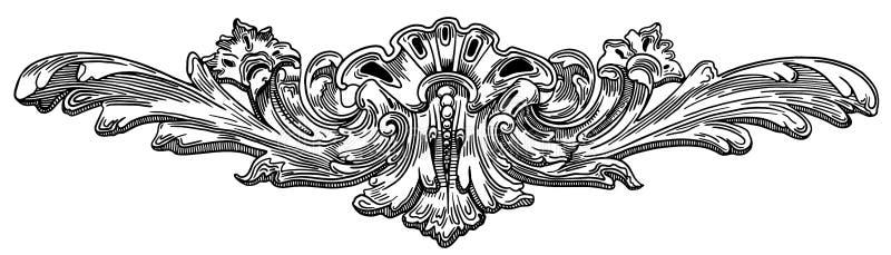 Dekorativ beståndsdel av fasaden av ett historiskt vektor illustrationer