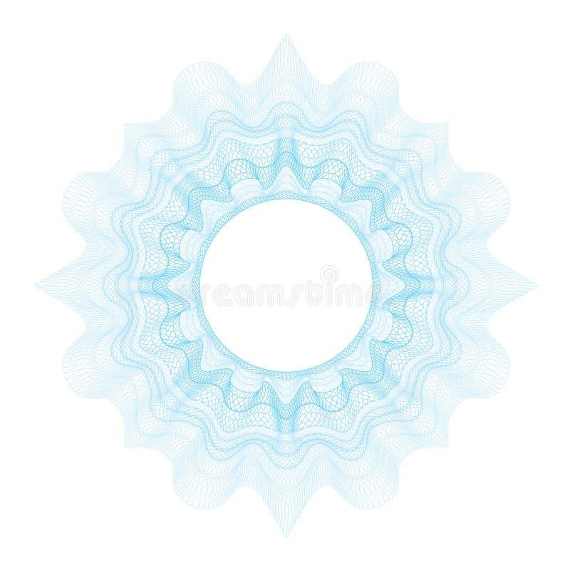Dekorativ beståndsdel för Guilloche för designcertifikat arkivbild