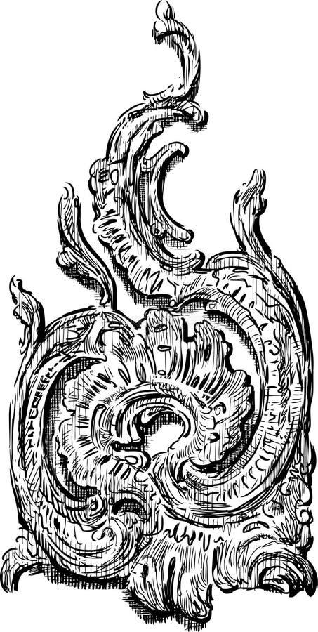 Dekorativ beståndsdel för tappning royaltyfri illustrationer
