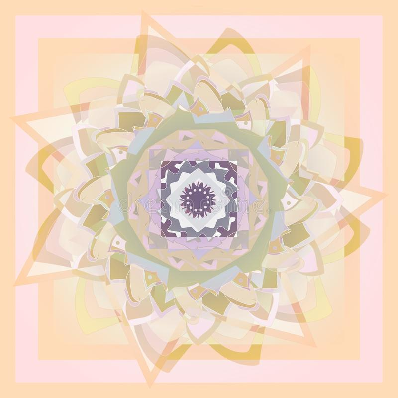 Dekorativ best?ndsdel f?r design Dahlia Flower PALETT FÖR PASTELLFÄRGADE FÄRGER abstrakt bakgrund MONOCROME-PALETT vektor illustrationer